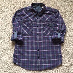 DKNY L casual button down shirt
